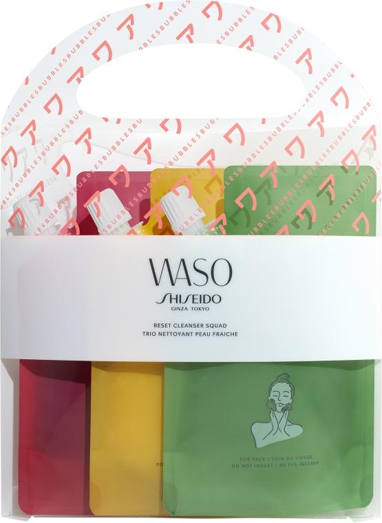 Gesichtspflegeset - Shiseido Waso Reset Cleanser (Gesichtsreinigungsgel 3x70ml)