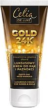 Düfte, Parfümerie und Kosmetik Luxuriöse Hand- und Nagelcreme - Celia De Luxe Gold 24K Luxurious Hand & Nail Cream