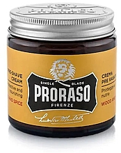 Düfte, Parfümerie und Kosmetik Preshave Creme - Proraso Wood and Spice Pre-Shaving Cream