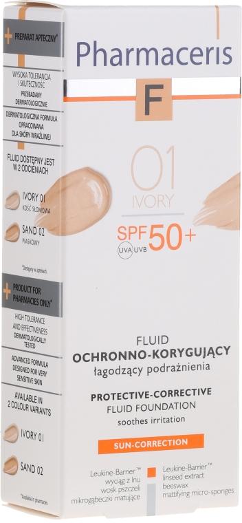 Schützende und korrigierende Gesichtsfluid-Foundation SPF 50+ - Pharmaceris F Protective-Corrective Fluid Foundation SPF 50+
