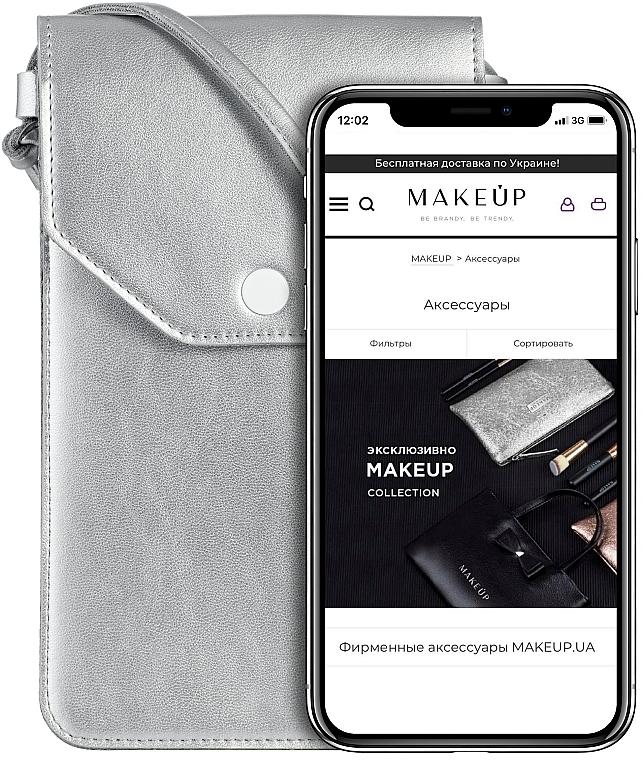Handytasche zum Umhängen Cross Silber - Makeup Phone Case Crossbody Silver
