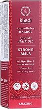 Düfte, Parfümerie und Kosmetik Ayurvedisches kräftigendes Haaröl für starke Wurzeln - Khadi Ayuverdic Strong Amla Hair Oil