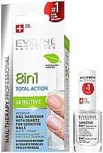 Düfte, Parfümerie und Kosmetik Konzentrierter Nagelhärter mit Quartz - Eveline Cosmetics Nail Therapy Professional Sensitive