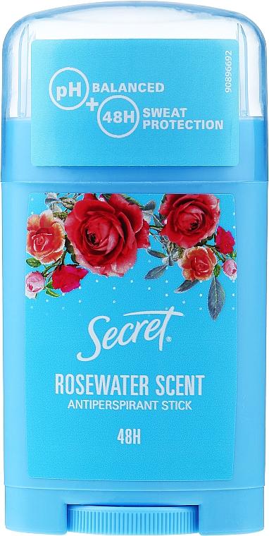 Deostick Antitranspirant mit Rosenwasserduft - Secret Antiperspirant Stick Rosewater Scent
