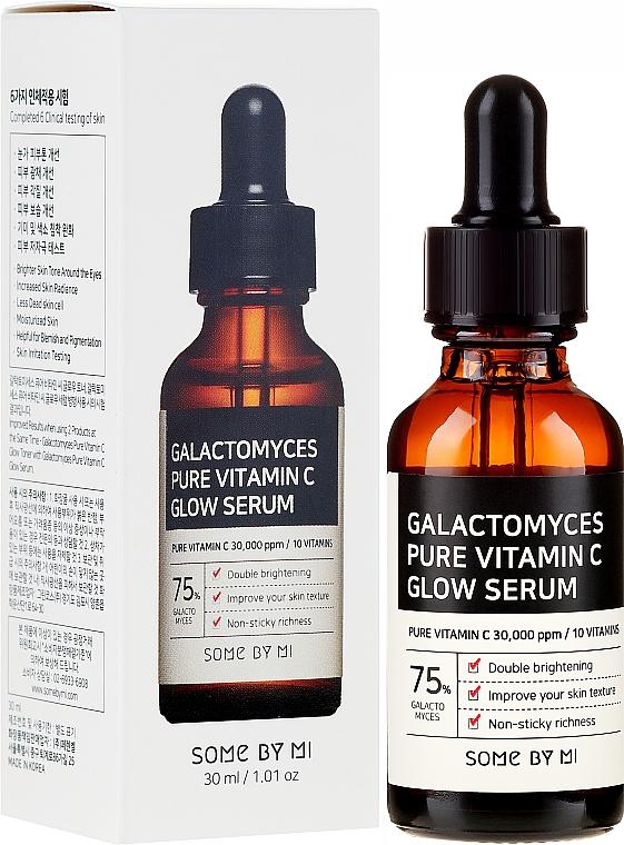 Feuchtigkeitsspendendes und glättendes Gesichtsserum mit Vitamin C - Some By Mi Galactomyces Pure Vitamin C Glow Serum