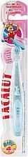 Düfte, Parfümerie und Kosmetik Kinder-Zahnbürste mit Gummikopf weich 0-4 Jahre hellblau - Lacalut