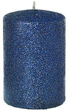 Düfte, Parfümerie und Kosmetik Dekorative Kerze blau 7x10 cm - Artman Glamour