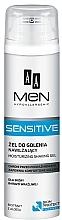 Düfte, Parfümerie und Kosmetik Intensiv feuchtigkeitsspendendes Rasiergel für empfindliche Haut - AA Men Sensitive Moisturizing Shaving Gel