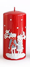 Düfte, Parfümerie und Kosmetik Dekorative Kerze rot 7x14 cm - Artman Reindeers