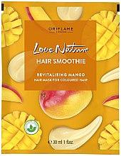 Düfte, Parfümerie und Kosmetik Regenerierende Haarmaske für gefärbtes Haar mit Mangoextrakt - Oriflame Love Nature Hair Smoothie