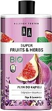 Düfte, Parfümerie und Kosmetik Entspannendes und beruhigendes Schaumbad mit Feige und Lavendel - AA Super Fruits & Herbs Bath Foam