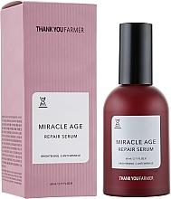 Düfte, Parfümerie und Kosmetik Aufhellendes Gesichtsserum gegen Falten - Thank You Farmer Miracle Age Serum