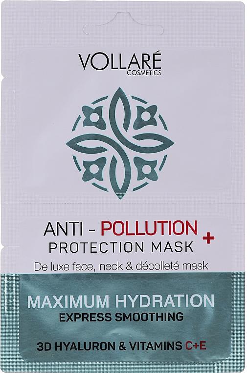 Feuchtigkeitsspendende Tuchmaske mit Hyaluronsäure und Viamin C und E - Vollare Anti-Pollution Protection Mask