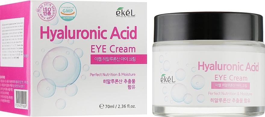 Nährende und feuchtigkeitsspendende Augenkonturcreme mit Hyaluronsäure - Ekel Hyaluronic Acid Eye Cream
