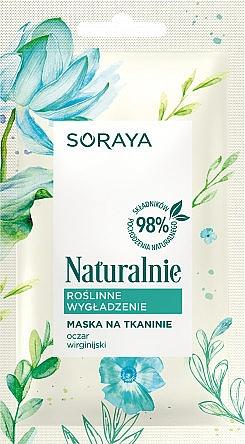 Glättende Tuchmaske für Gesicht mit Hamamelis-Extrakt - Soraya Naturalnie Mask