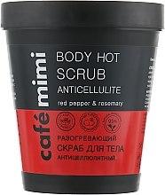 Düfte, Parfümerie und Kosmetik Anti-Cellulite wärmendes Körperpeeling mit rotem Pfeffer und Rosmarin - Cafe Mimi Body Hot Scrub Anticellulite