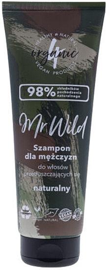 Natürliches Männershampoo für fettiges Haar - 4Organic Mr Wild Shampoo For Men For Greasy Hair