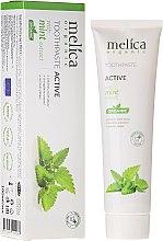 Düfte, Parfümerie und Kosmetik Aktive Zahnpasta mit Minzextrakt - Melica Organic