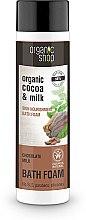 Düfte, Parfümerie und Kosmetik Pflegender Badeschaum mit Schokoladenduft - Organic Shop Organic Cacao and Milk Milky Bath Foam