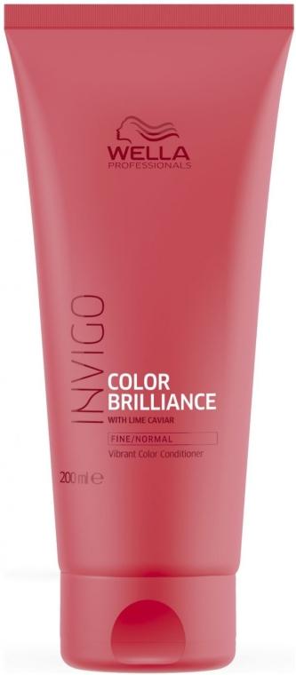 Haarspülung für gefärbtes Haar mit Limettenkaviar - Wella Professionals Invigo Color Brilliance Conditioner