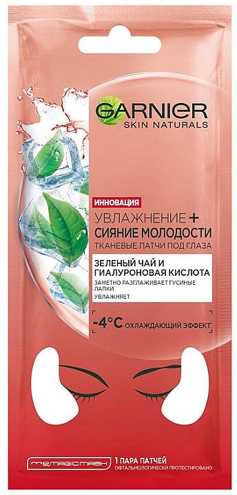 Kühlende und feuchtigkeitsspendende Augenpatches mit grünem Tee und Hyaluronsäure - Garnier Skin Naturals Patches