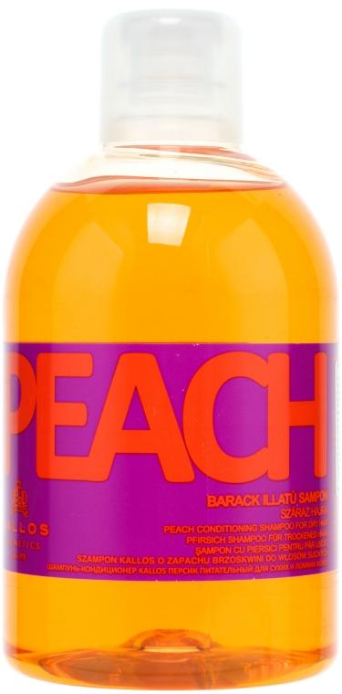 Pfirsich Shampoo für trockenes Haar - Kallos Cosmetics Peach Shampoo — Bild N1