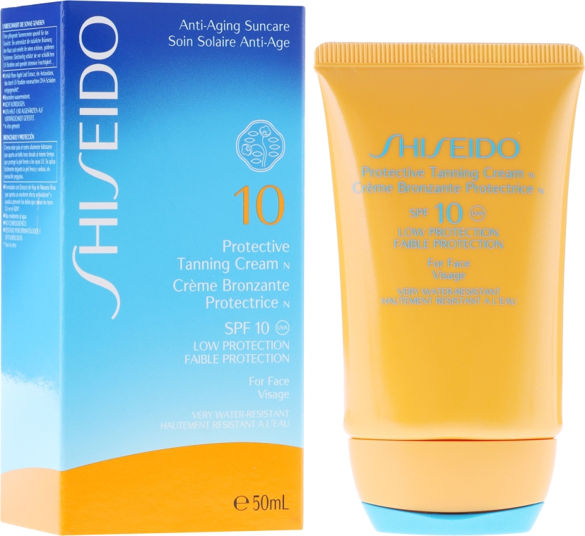 Wasserfeste Sonnenschutzcreme für das Gesicht SPF 10 - Shiseido Suncare Protective Tanning Cream N SPF 10 For Face — Bild N1