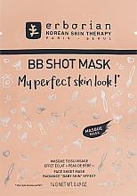Düfte, Parfümerie und Kosmetik Tuchmaske für Gesicht mit Ginsengextrakt - Erborian BB Shot Mask