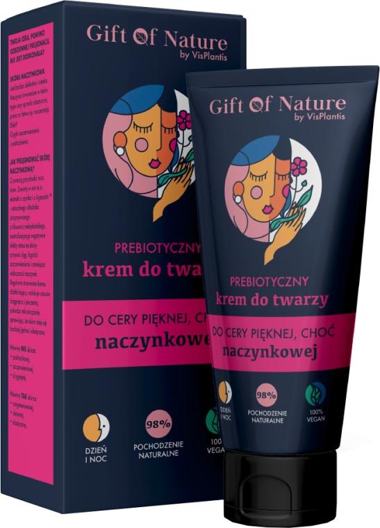 Präbiotische Gesichtscreme für Haut mit erweiterten Kapillaren - Vis Plantis Gift of Nature Face Cream