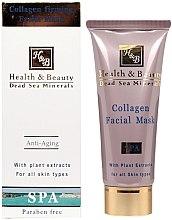 Düfte, Parfümerie und Kosmetik Straffende Gesichtsmaske mit Pflanzenextrakten - Health And Beauty Collagen Firming Facial Mask