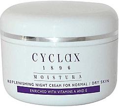 Düfte, Parfümerie und Kosmetik Feuchtigkeitsspendende Nachtcreme für das Gesicht mit Vitaminen A und E - Cyclax Moistura Replenishing Night Cream Normal / Dry Skin