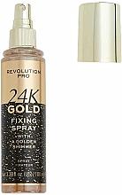 Düfte, Parfümerie und Kosmetik Make-up-Fixierer mit Goldschimmer - Revolution Pro 24K Gold Fixing Spray