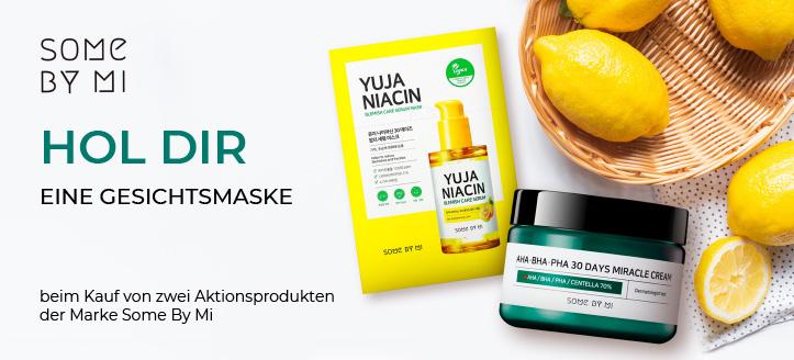 Hol Dir eine Gesichtsmaske geschenkt beim Kauf von zwei Aktionsprodukten der Marke Some By Mi