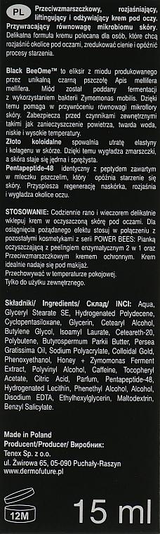 Schützende Anti-Falten Augencreme - Dermofuture Power Bees Anti-wrinkle Protective Eye Cream — Bild N3