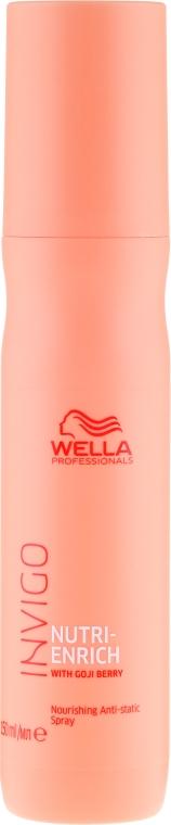 Pflegendes und glättendes Spray für trockenes und geschädigtes Haar - Wella Professionals Invigo Nutri-Enrich Nourishing Antistatic Spray