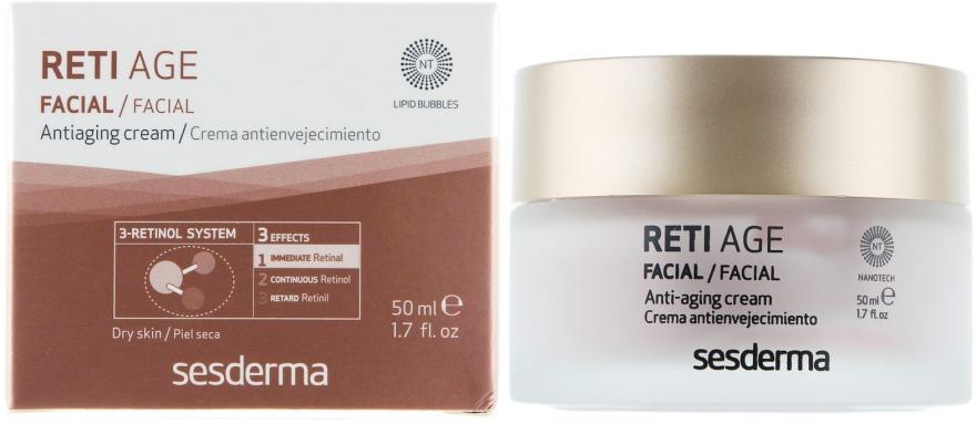 Anti-Aging Gesichtscreme mit 3-Retinol-System - SesDerma Laboratories Reti Age Facial Antiaging Cream 3-Retinol System — Bild N1