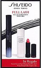 Düfte, Parfümerie und Kosmetik Shiseido Full Lash Multi-Dimension Mascara - Make-up Set (Wimperntusche/8ml + Lippenstift/2,5g + Make-up Entferner/30ml)