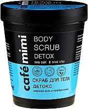 Düfte, Parfümerie und Kosmetik Detox-Körperpeeling mit Meersalz und blauer Tonerde - Cafe Mimi Body Scrub Detox