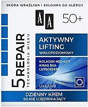 Düfte, Parfümerie und Kosmetik Straffende Tagescreme mit Lifting-Effekt 50+ - AA Age Technology 5 Repair Day Cream 50+