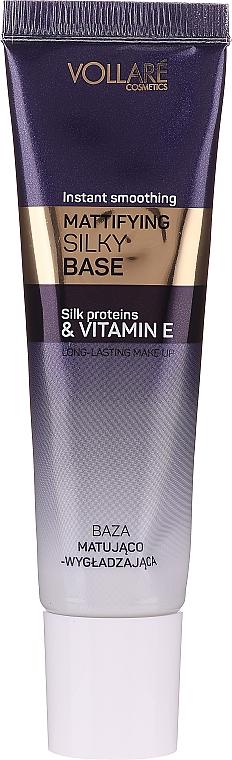 Mattierende Make-up Base mit Seidenproteinen und Vitamin E - Vollare Cosmetics Mattifying Silky Base Instant Smoothing