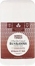 Düfte, Parfümerie und Kosmetik Natürlicher Soda Deo-Stick Nordic Timber - Ben & Anna Natural Soda Deodorant Nordic Timber