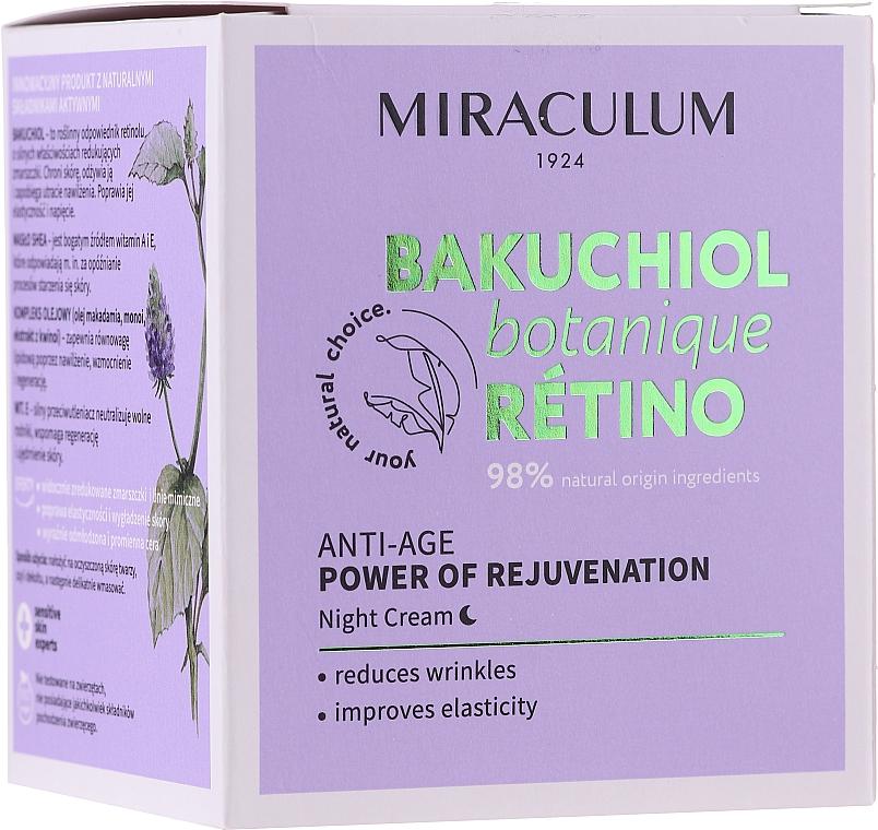 Anti-Aging Nachtcreme mit Vitamin A und E - Miraculum Bakuchiol Botanique Retino Anti-Age Cream
