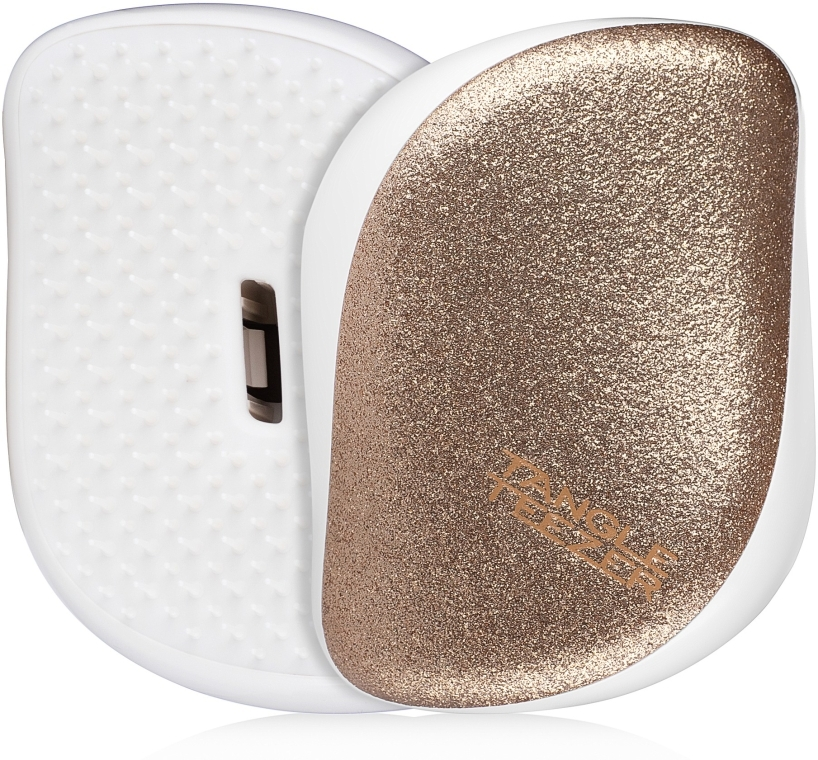 Kompakte Haarbürste mit Glitzer - Tangle Teezer Compact Styler Glitter Gold
