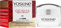 Düfte, Parfümerie und Kosmetik Regenerierende Anti-Falten Gesichtscreme mit Seidenfäden 55+ - Yoskine Geisha Gold Secret Anti-Wrinkle Regeneration Cream