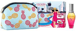 Düfte, Parfümerie und Kosmetik Escada Miami Blossom - Duftset (Eau de Toilette 30ml + Kosmetiktasche)