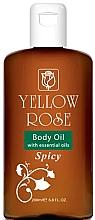 Düfte, Parfümerie und Kosmetik Aufweichendes Körperöl mit natürlichen ätherischen Ölen - Yellow Rose Body Oil With Essential Oils Spicy