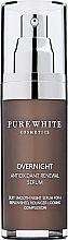Düfte, Parfümerie und Kosmetik Regenerierendes Gesichtsserum für die Nacht - Pure White Cosmetics Overnight Antioxidant Renewal Serum