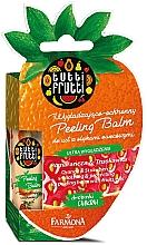 Düfte, Parfümerie und Kosmetik Peeling-Lippenbalsam Orange und Erdbeere - Farmona Tutti Frutti Peeling Lip Balm Orange & Strawberry