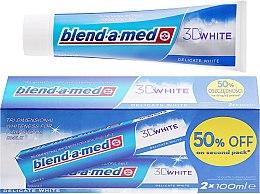 "Düfte, Parfümerie und Kosmetik Zahnpasta-Set ""3D White Delicate White"" - Blend-a-med 3D White Delicate White Toothpaste (Zahnpasta/2x100ml)"