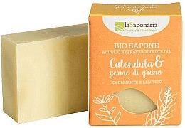 Düfte, Parfümerie und Kosmetik Beruhigende Bio Seife mit Calendula und Weizenkeim - La Saponaria Calendula & Wheat Germ Soap